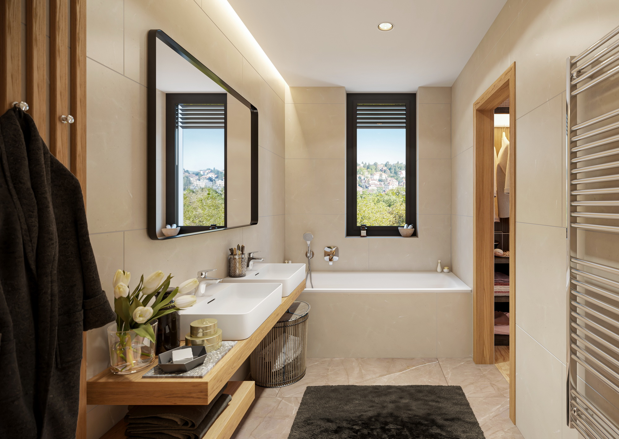 example of standard bathroom fitout